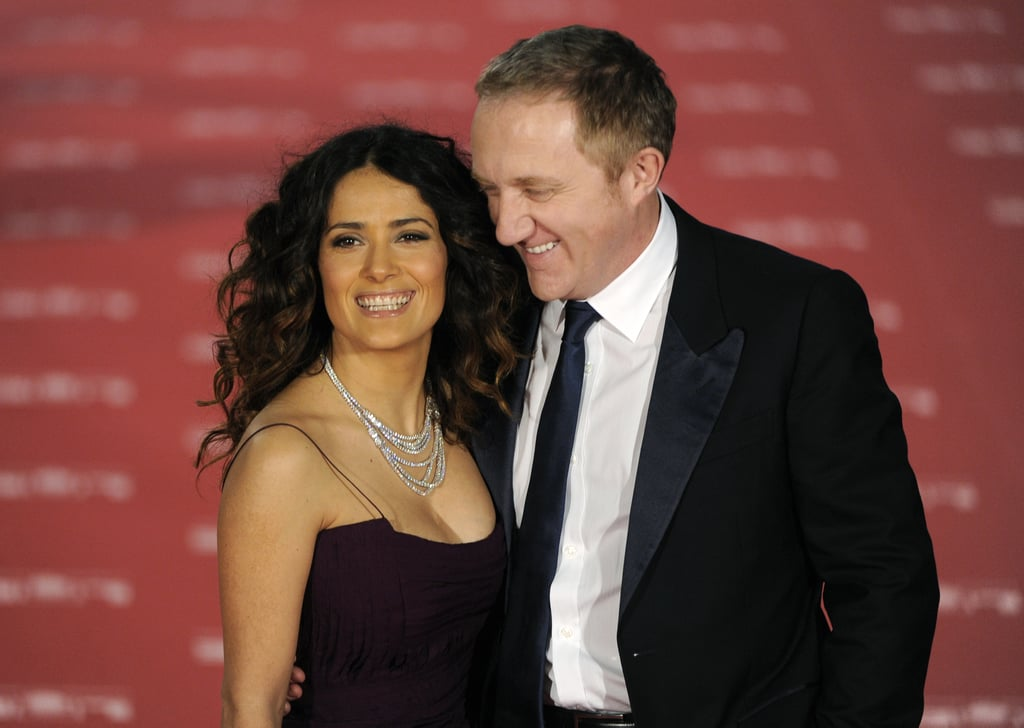 ff688a7d2 Salma Hayek and her husband Francois-Henri Pinault were all smiles at the  Goya Awards