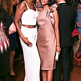 Iman Abdulmajid and Kerry Washington at a party celebrating Washington's June 2013 Elle cover in New York. Source: David X Prutting/BFAnyc.com