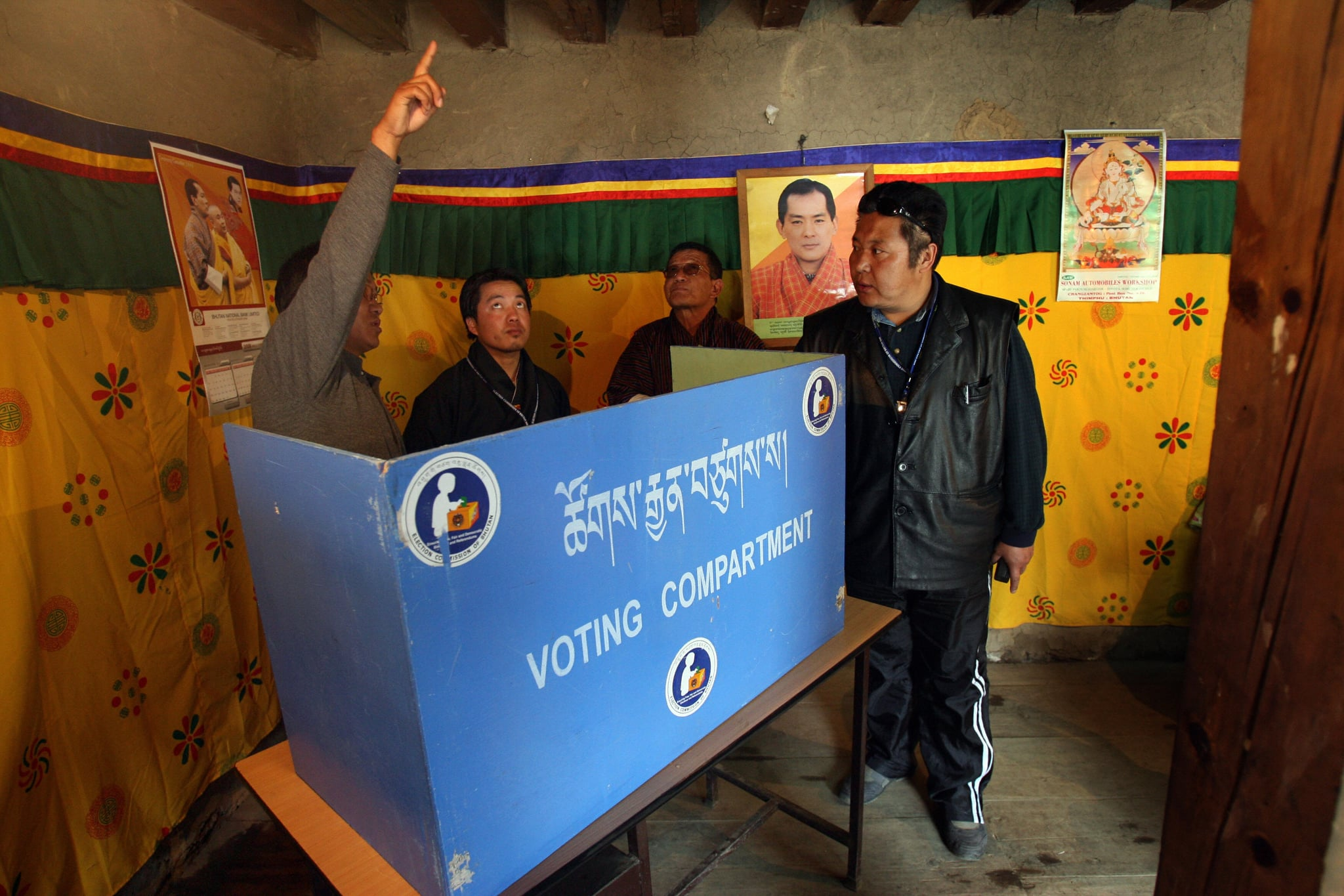 A Bhutanese polling officer. March, 2008.