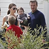 Harper spent her first Easter with brothers Brooklyn, Romeo, and Cruz and parents David and Victoria Beckham while vacationing in Napa Valley.