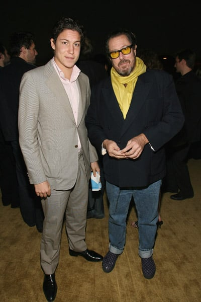 Vito Schnabel and Director Julian Schnabel