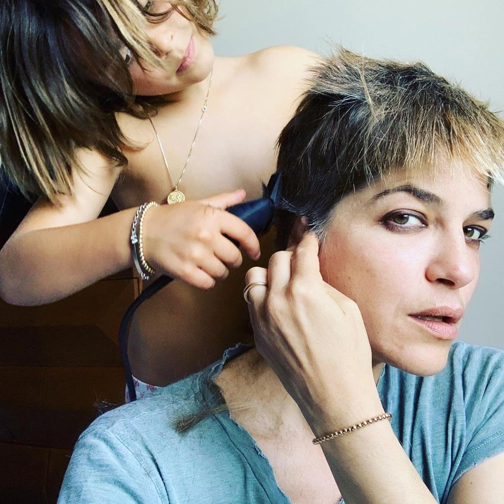 Selma Blair Shaves Head With Her Son Arthur June 2019   POPSUGAR Beauty UK