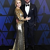 John Krasinski and Emily Blunt at the Governors Awards 2018