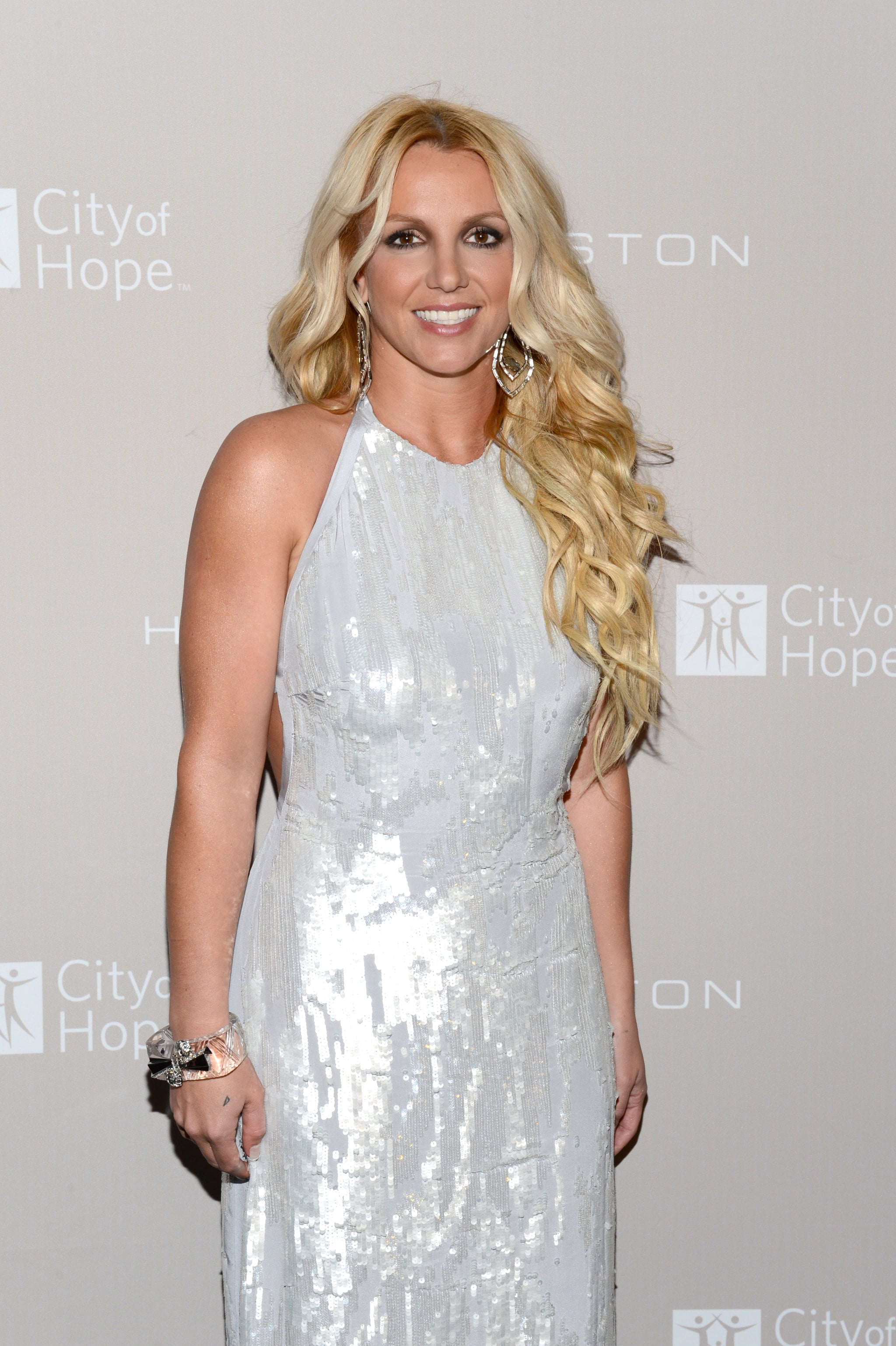 Britney Spears posed for photos at the City of Hope charity's gala in LA.