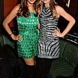 Rochelle Humes and Abbey Clancy celebrated at the LOVE x Balmain Christmas party in London.