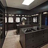 This sleek black closet is a Slytherin's dream come true, and it's not hard to see why.