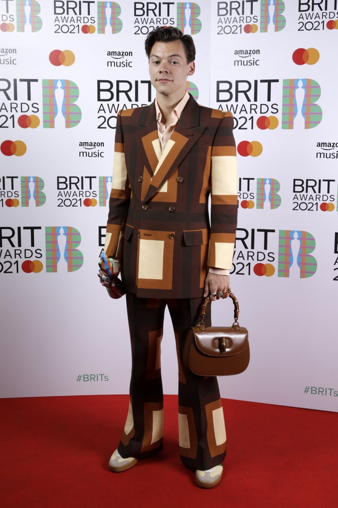 See Photos of Harry Styles in Gucci at the 2021 BRIT Awards