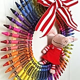 A Colorful Crayon Wreath