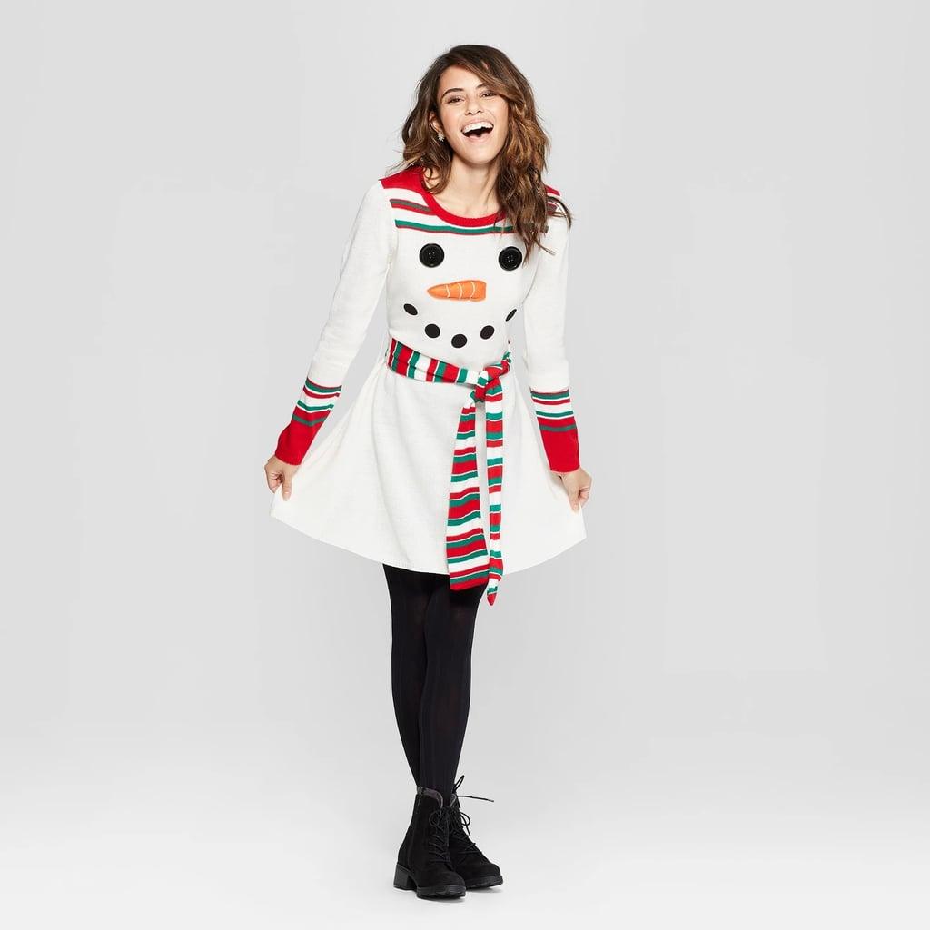 Women\u0027s Ugly Christmas Snowman Dress