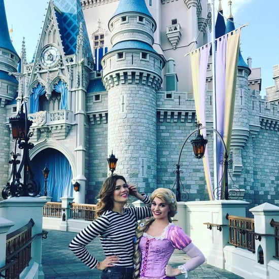 Mandy Moore at Disney World With Rapunzel in March 2017