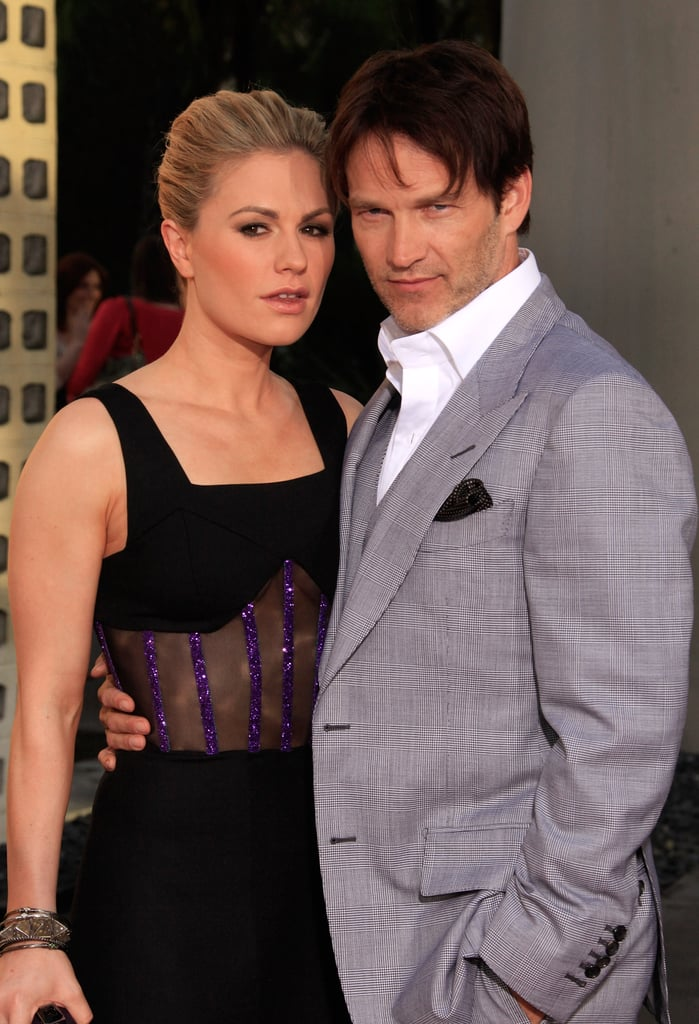 Stephen Moyer and Anna Paquin struck a sexy pose at their True Blood premiere.