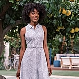 Gal Meets Glam Collection Rose Floral Button Up Fit & Flare Cotton Dress