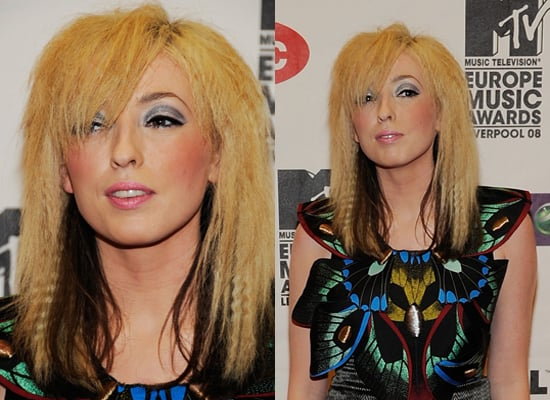 Photo of Ting Tings Katie White at 2008 MTV Europe Music Awards. Love or Hate Her Crimped Hair and Disco Makeup?