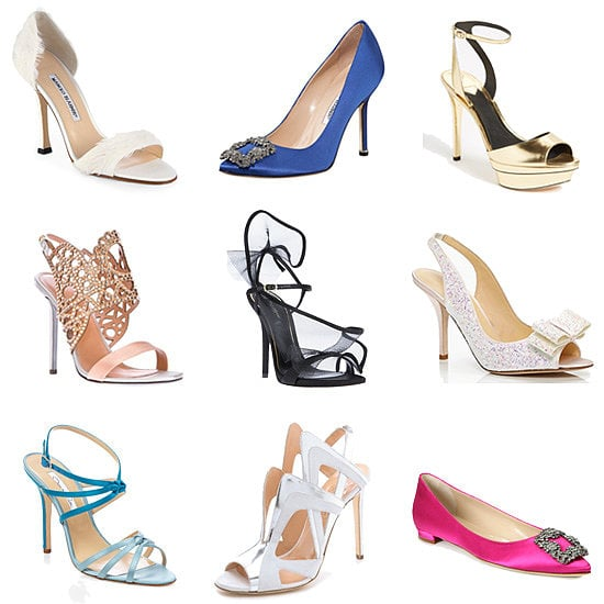 For every bride, POPSUGAR Style & Trends has got your wedding shoe match: a futuristic Alejandro Ingelmo heel will inject an edgier sense of glamour, a modernist white T-strap Saint Laurent sandal will work itself into your postwedding wardrobe, and a cobalt Manolo Blahnik pump will give you your something blue. Find your perfect sole mate now!