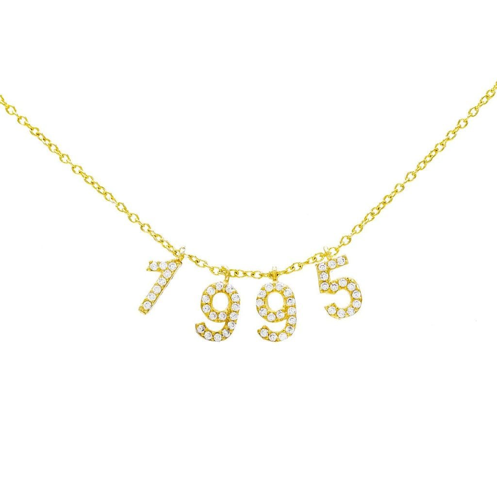 Adinas Jewels Pave Year Necklace