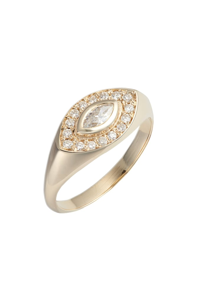Zoë Chicco Marquis Diamond Signet Ring