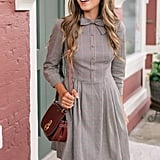 Gal Meets Glam Collection Blanche Check Bow Tie Fit & Flare Dress