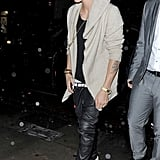 Justin Bieber celebrated his 19th birthday in London.