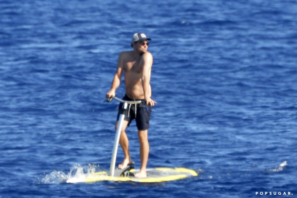 Leonardo DiCaprio is currently vacationing in Italy with girlfriend Camila Morrone, and on Sunday, the happy couple spent an afternoon hanging on a yacht and tearing through the ocean on jet skis. Leo and Camila took turns driving each other around in the water (which was adorable), but the real focus of this story has to be the Once Upon a Time in Hollywood star striking poses on a Sea Scooter. Stay with me.  The 44-year-old Oscar winner looked to be having a blast while riding around on the scooter, which is pretty evident from his over-the-shoulder glance, casually bent knee, mild duckface, and playful wave to his friends on board. He's clearly picked up some tips while snapping all those Instagram photos for Camila.  I can't help but be reminded of some of Leo's previous ocean adventures, including but not limited to blasting off on a Flyboard in Spain, practicing karate kicks on a yacht, and styling his beach towel into a look worthy of Project Runway. The King of Summer strikes again! Keep reading to see photos from Leo's latest excursion.      Related:                                                                                                           Even Brad Pitt Wants to Know Why Leonardo DiCaprio Didn't Fit on the Titanic Door