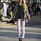 Printed jeans look even better with, yep, another print. Source: Le 21ème | Adam Katz Sinding