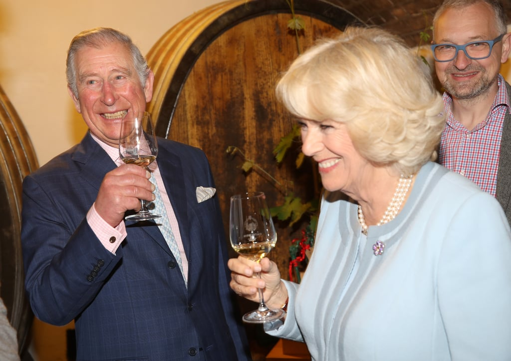 Prince Charles and his wife Camilla tasted wine during their trip to Vienna, Austria in April.