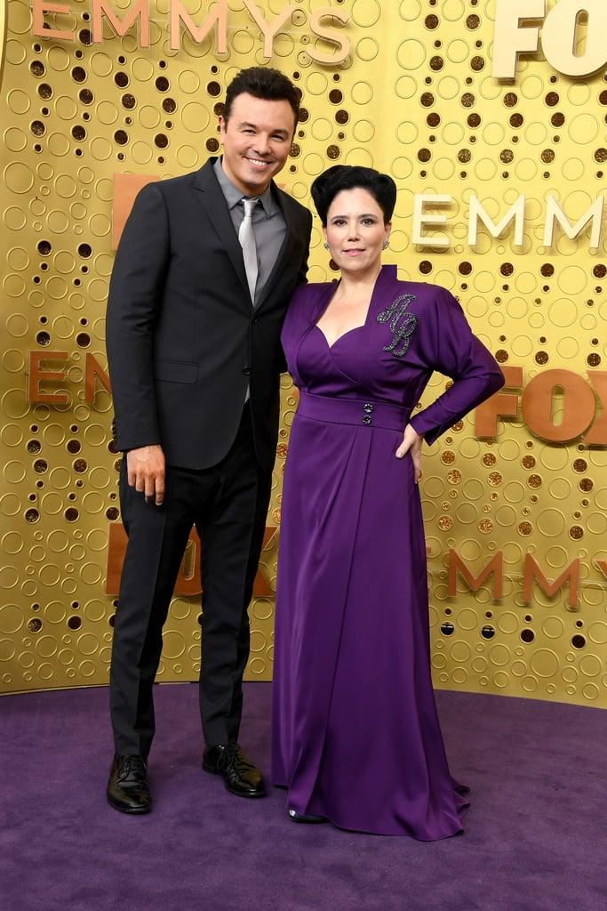 Seth MacFarlane and Alex Borstein at the 2019 Emmys