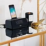 iHome iPhone + Apple Watch Charging Bluetooth Dual Alarm Clock Radio
