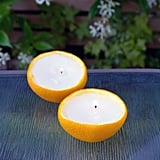 Bug-Repellant Orange Candles