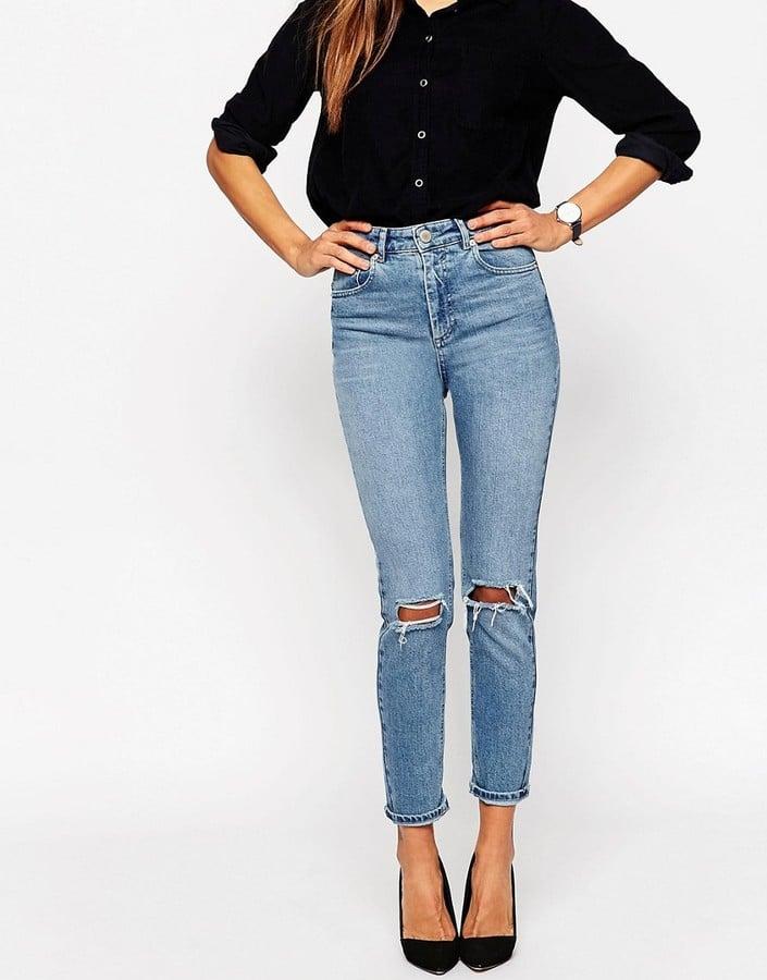 ASOS Farleigh High-Waist Slim Mom Jeans