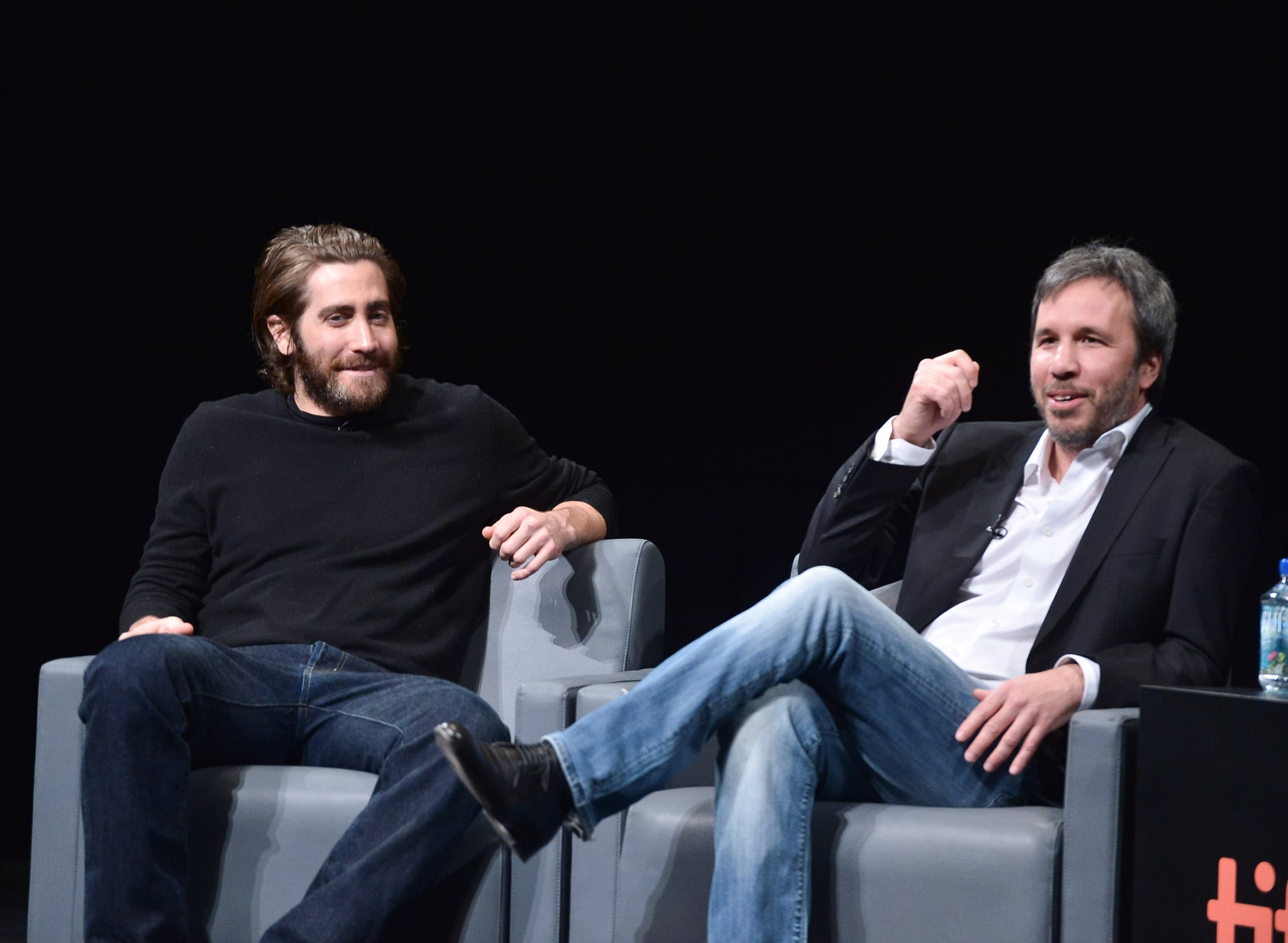 Jake and Denis both wore jeans to the event.
