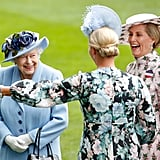 Queen Elizabeth II, Zara Tindall, and Sophie, Countess of Wessex