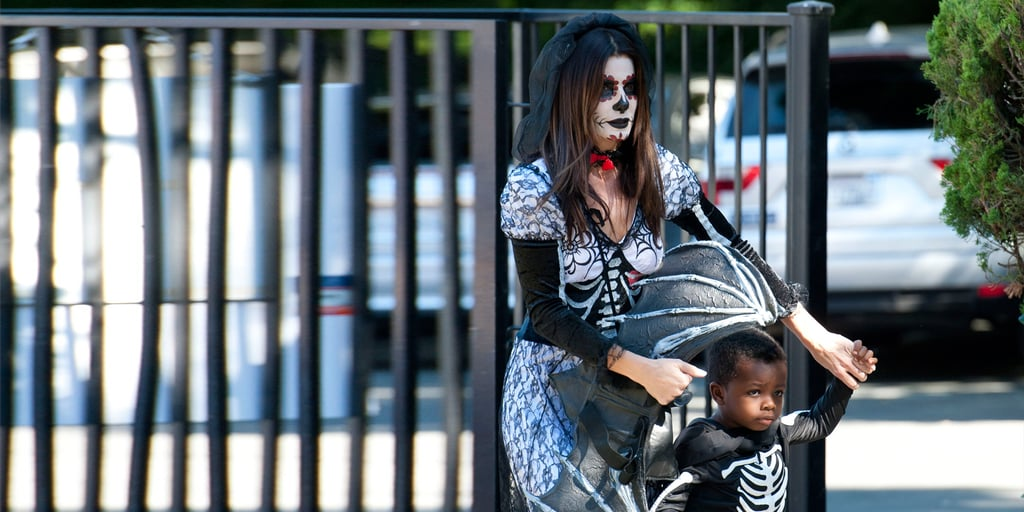 Sandra Bullock Takes Louis to a Halloween Party in LA