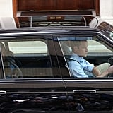 Prince William drove the car as he, Kate Middleton, and the royal baby left the hospital.