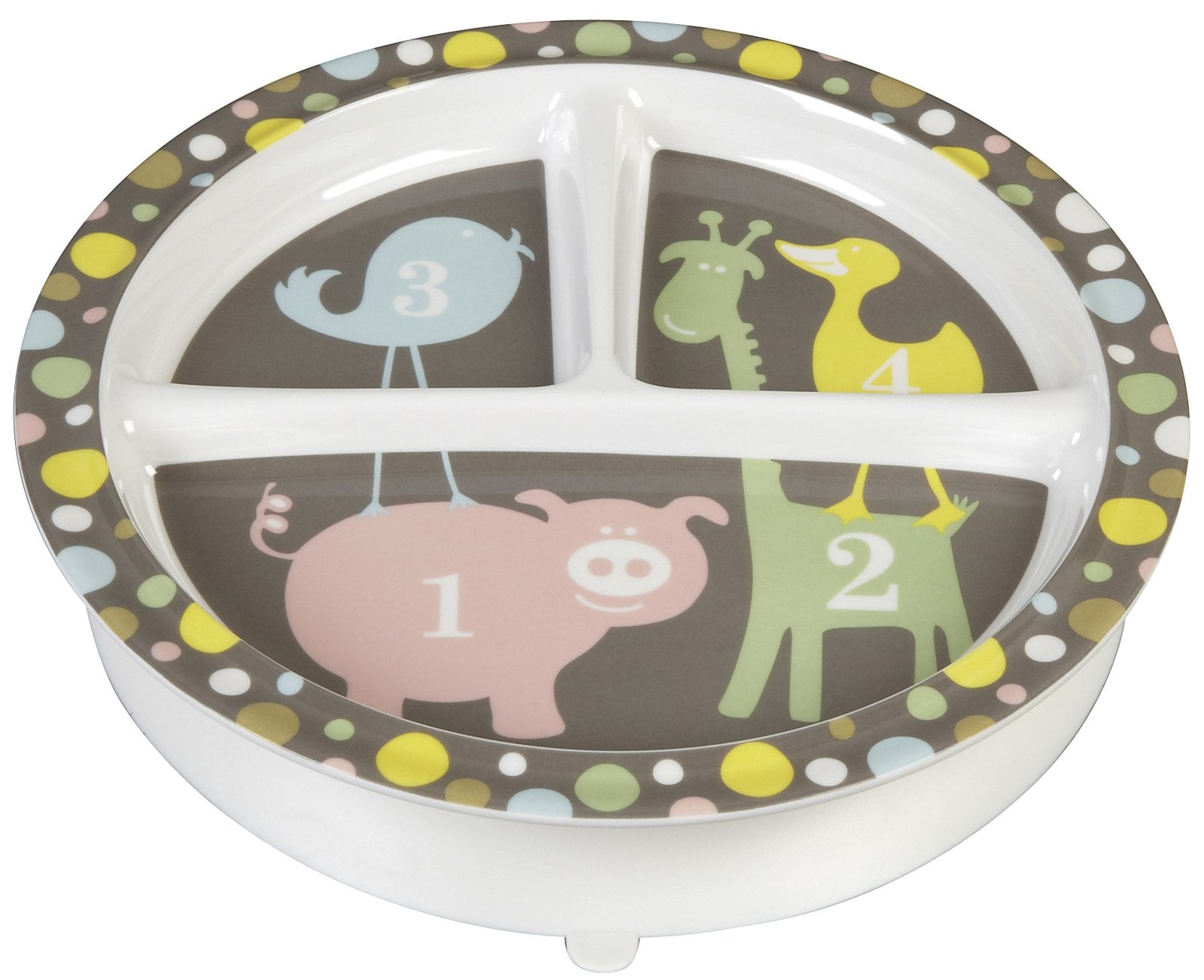 SugarBooger Divided Suction Plate