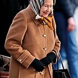 Queen Elizabeth II's Christmas Train Ride Pictures 2018