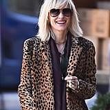 Cate Blanchett on the set.