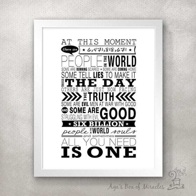 Six Billion People Poster Print