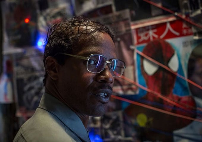 Jamie Foxx as Max Dillon in The Amazing Spider-Man 2.