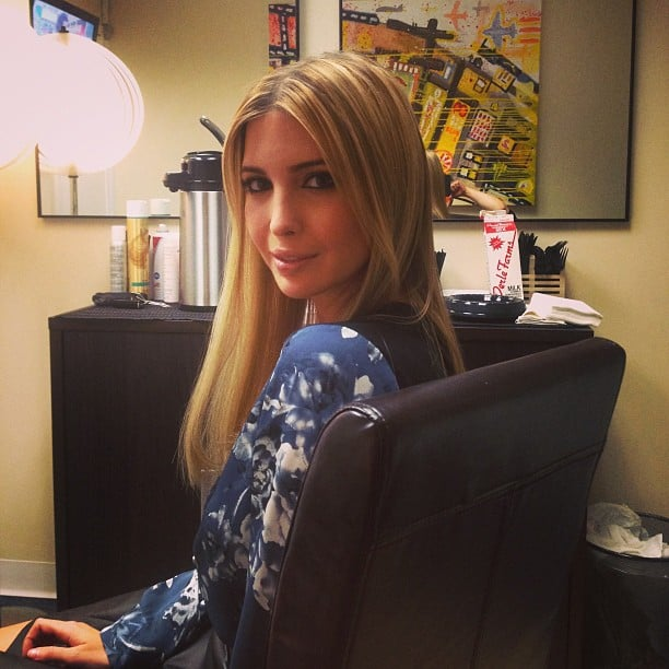 Ivanka Trump hung out in the green room before an appearance on The Wendy Williams Show Source: Twitter user IvankaTrump