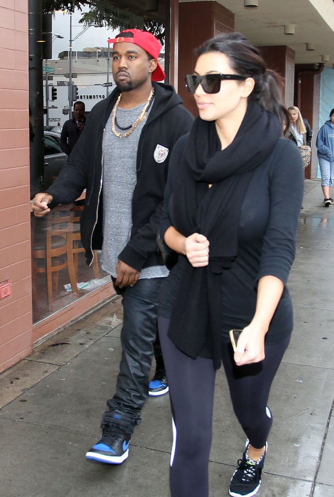 Kim and Kanye Spread Peace, Love, and PDA Over the Holidays