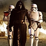 Kylo Ren and a Stormtrooper From Star Wars: The Force Awakens