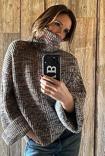 Victoria Beckham Wearing a Knit Turtleneck on Instagram 2020