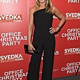 Jennifer Aniston Attended the Screening of Office Christmas Party in a Brandon Maxwell Jumpsuit
