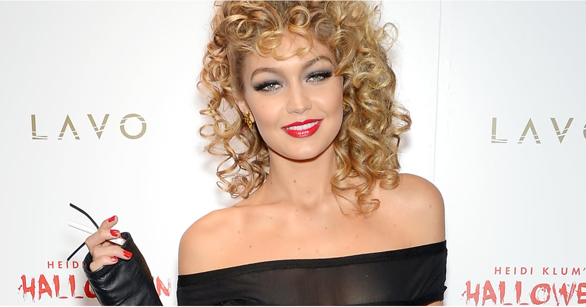 5b477bd36094e Gigi Hadid's Sandy From Grease Costume | POPSUGAR Fashion