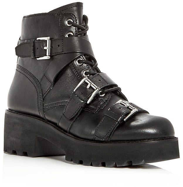 Ash Razor Leather Triple Strap Booties