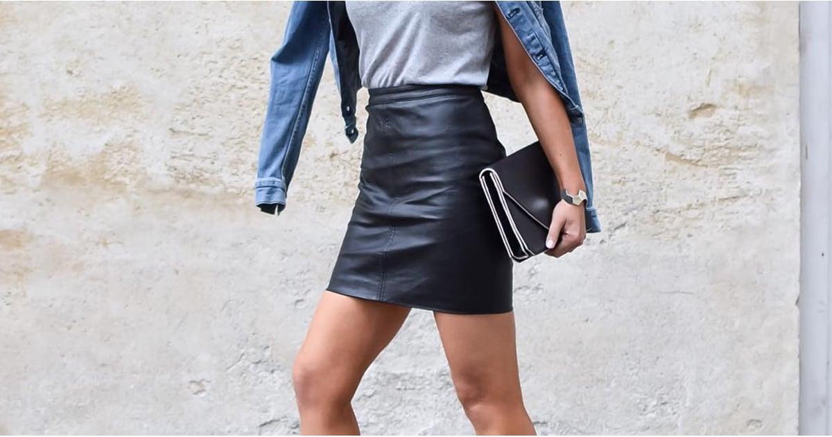 b4204c581 How to Style a Leather Skirt Ideas | POPSUGAR Fashion Australia