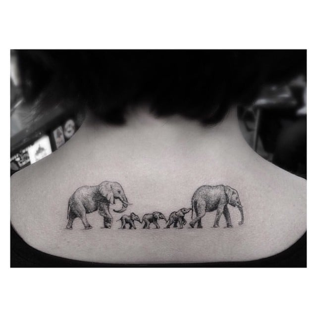 Family Portrait Tattoos To Represent Baby Or Child Popsugar