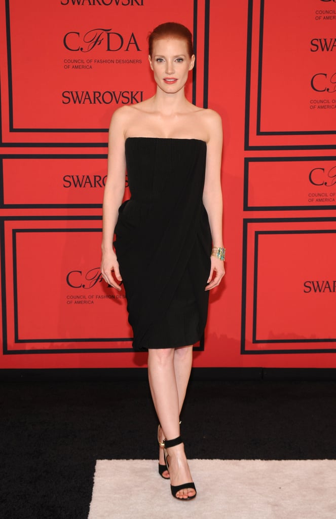 Jessica Chastain attended the CFDA Fashion Awards in NYC.
