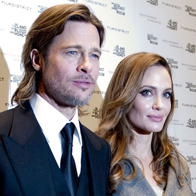 Angelina Jolie and Brad Pitt Red Carpet Pictures at In the Land of Blood and Honey Washington Premiere