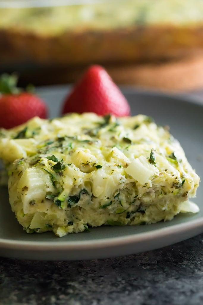 Herb Zucchini and Kale Egg Bake